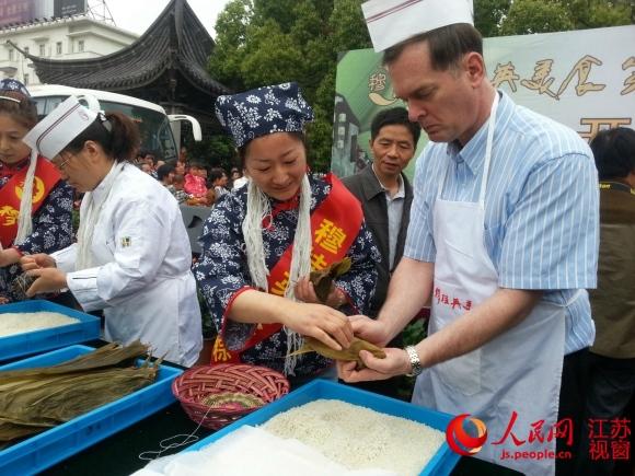 请粽子代言无锡老字号连续17年v粽子美食地图吃成都老外文化手绘图片