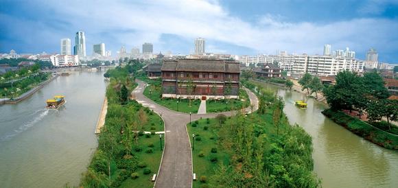 里运河文化长廊建设已初具规模. 淮安市文保处供图.