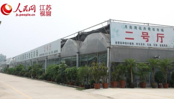 徐州月亮湾农业示范区的温室大棚里不种农作物却变身成了交易市场
