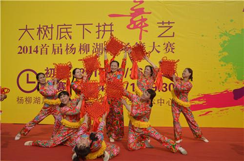"""南京杨柳湖风景区举办""""大树底下拼舞艺""""广场舞大赛"""