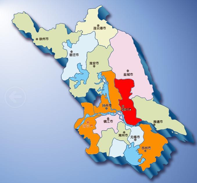 苏州南京扬州地图