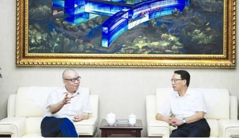 淮安市委宣传部长周毅到访人民日报社江苏分社