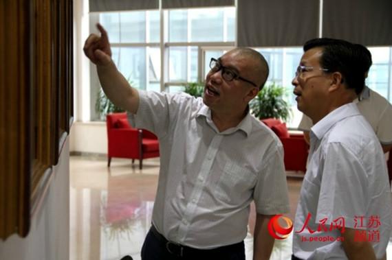 镇江市委宣传部长童国祥到访人民日报江苏分社