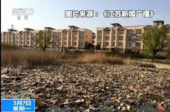 3家政府单位半夜偷倒 连云港一公园成
