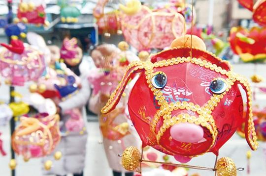 猪年花灯手工制作步骤