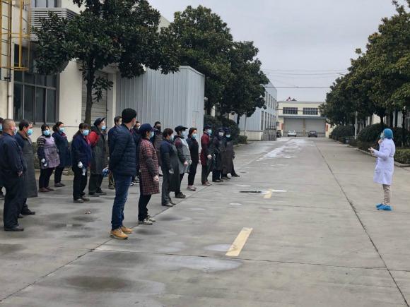 揚州寶應縣中醫醫院助力復工企業做好疫情防控