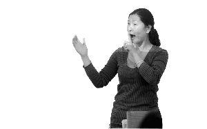 聋哑人老师大学课堂教手语 学生抢着上