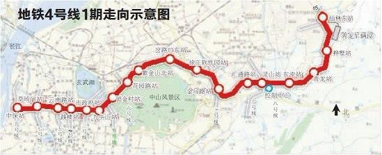 南京地铁4号线18个站公示 西康路站取消图片