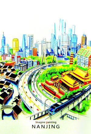 城市道路规划设计手绘图