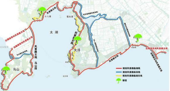 太湖学院手绘地图