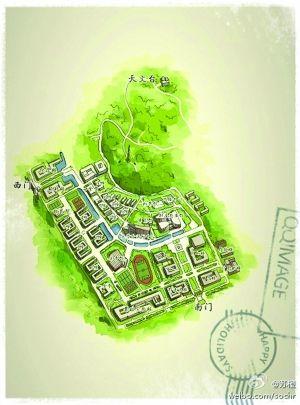 手绘地图风靡南京各;  南大仙林校区; 仙林大学城手绘地图;
