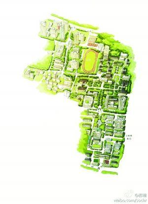 南大三校区手绘地图齐全