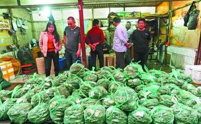 在惠民桥水产品批发市场,螃蟹销售点摆满了待售的螃蟹.王成兵 摄