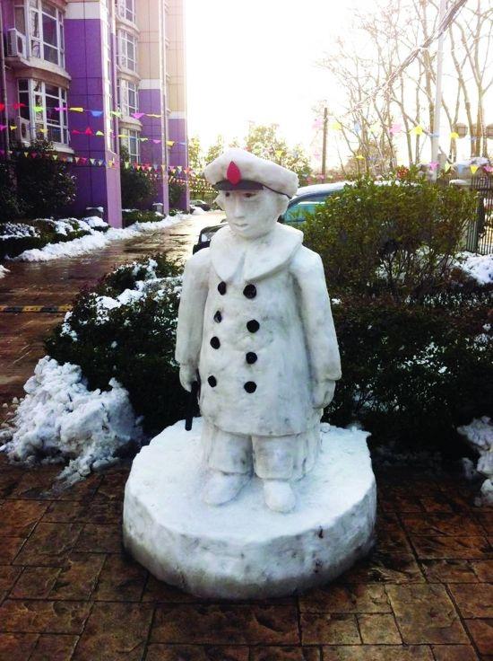 暴雪过后街头创艺美丽雪雕英姿  - 高山松 - gaoshansong.good 的博客