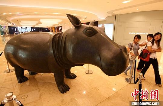 法国顶尖艺术家动物雕塑落户南京