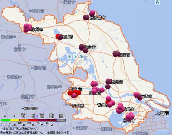 12月3日江苏空气质量排名:盐城重度污染 南京