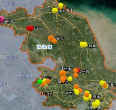 12日江苏空气质量排名:徐州最差 盐城最好