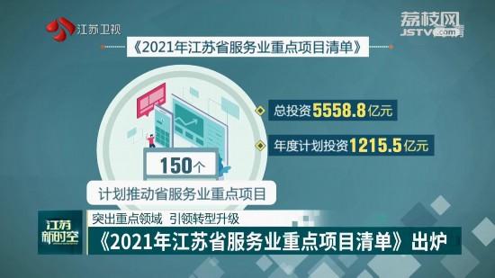 《2021年江苏省服务业重点项目清单》出炉 引领转型升级